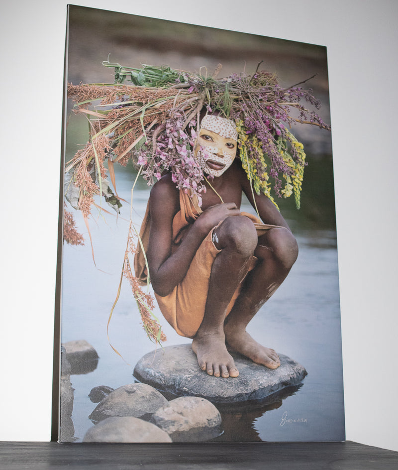 ELIAS - Suri girl by the river 2 - CANVAS by Giovanna Photography