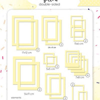 39pcs Yellow Photo Frames