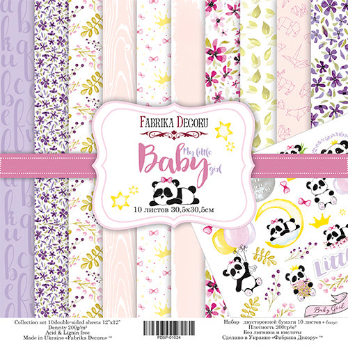 "12"" x 12"" paper pad - My little baby girl - Crafty Wizard"