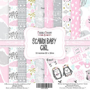 "8"" x 8"" paper pad - Scandi Baby Girl - Crafty Wizard"