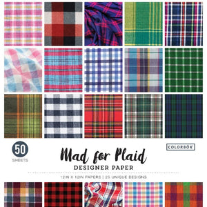 "12"" x 12"" paper pad - Mad for Plaid"
