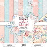 "12"" x 12"" paper pad - Shabby Baby Girl - Crafty Wizard"