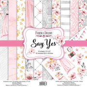 "12"" x 12"" paper pad - Say Yes - Crafty Wizard"