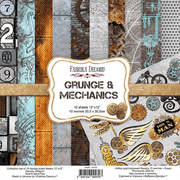 "12"" x 12"" paper pad - Grunge & Mechanics - Crafty Wizard"