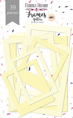 39pcs Yellow Photo Frames - Crafty Wizard