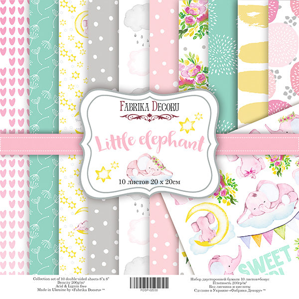 "8"" x 8"" paper pad - Little Elephant - Crafty Wizard"