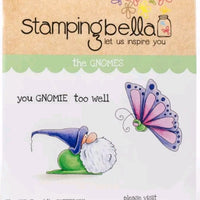 Stamping Bella - The Gnome and the Butterfly - Rubber Stamp Set - Crafty Wizard