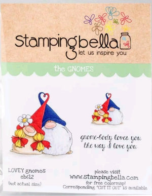 Stamping Bella - Lovely Gnomes - Rubber Stamp Set - Crafty Wizard