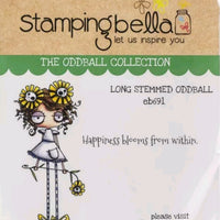 Stamping Bella Long - Stemmed Oddball - Rubber Stamp Set - Crafty Wizard