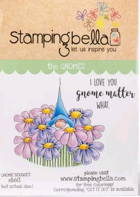 Stamping Bella  - Gnome Bouquet - Rubber Stamp Set - Crafty Wizard