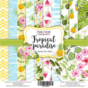 "8"" x 8"" paper pad -  Tropical Paradise - Crafty Wizard"