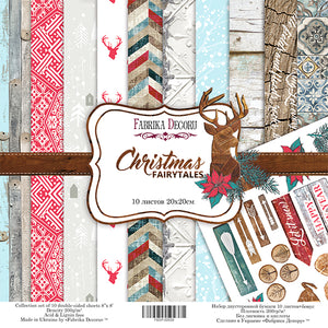 "8"" x 8"" paper pad - Christmas Fairytales - Crafty Wizard"