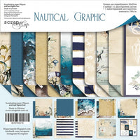 "8"" x 8"" paper pad - Nautical Graphic - Crafty Wizard"