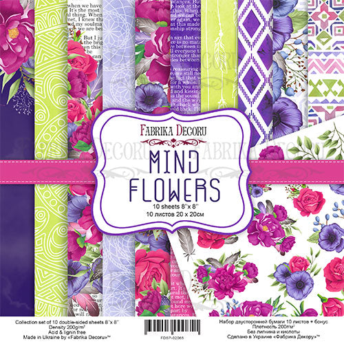 "8"" x 8"" paper pad - Mind Flowers - Crafty Wizard"