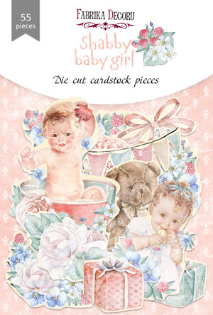 55pcs Shabby Baby Girl die cuts - Crafty Wizard
