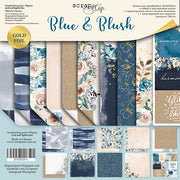 "12"" x 12"" paper pad - Blue & Blush - Crafty Wizard"