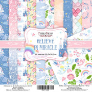 "12"" x 12"" paper pad - Believe in miracle - Crafty Wizard"