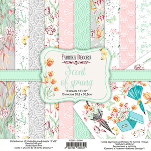"12"" x 12"" paper pad - Scent of Spring - Crafty Wizard"