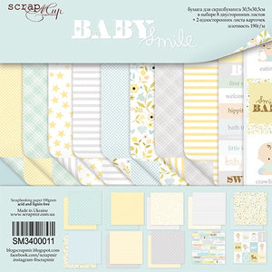 "12"" x 12"" paper pad - Baby Smile - Crafty Wizard"