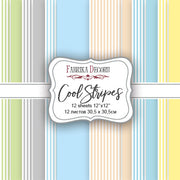 "12"" x 12"" paper pad - Cool Stripes - Crafty Wizard"