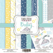"12"" x 12"" paper pad - My Little Baby Boy - Crafty Wizard"