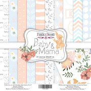 "8"" x 8"" paper pad - Baby & Mama - Crafty Wizard"