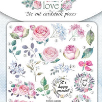 63pcs Shabby Love die cuts - Crafty Wizard