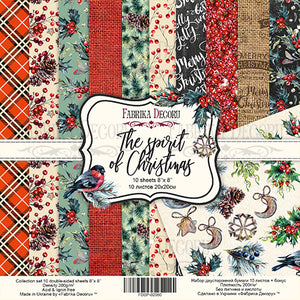 "8"" x 8"" paper pad - The Spirit of Christmas - Crafty Wizard"