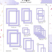 39pcs Violet Photo Frames