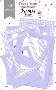 39pcs Violet Photo Frames - Crafty Wizard
