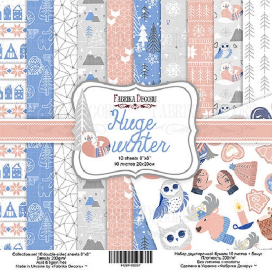 "8"" x 8"" paper pad - Huge Winter - Crafty Wizard"