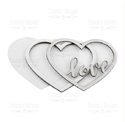 'Love' heart shaker set - Crafty Wizard