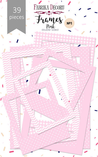 39pcs Pink Photo Frames - Crafty Wizard