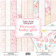 "8"" x 8"" paper pad -  Dreamy Baby Girl - Crafty Wizard"