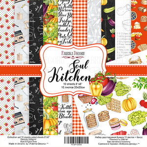 "8"" x 8"" paper pad - Soul Kitchen - Crafty Wizard"