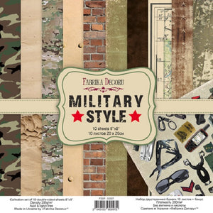"8"" x 8"" paper pad - Military Style"