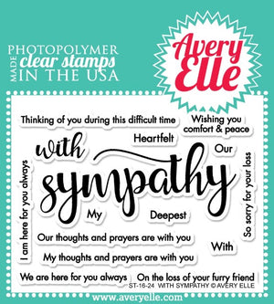 Avery Elle - With Sympathy - Clear Stamp Set - Crafty Wizard