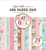 "6"" x 6"" paper pad - All Girl"