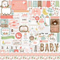 "12"" x 12"" paper pad - Baby Girl - Crafty Wizard"