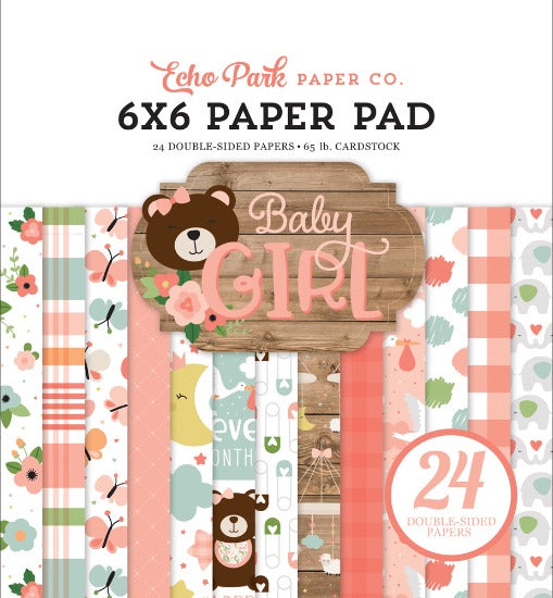 "6"" x 6"" paper pad - Baby Girl - Crafty Wizard"