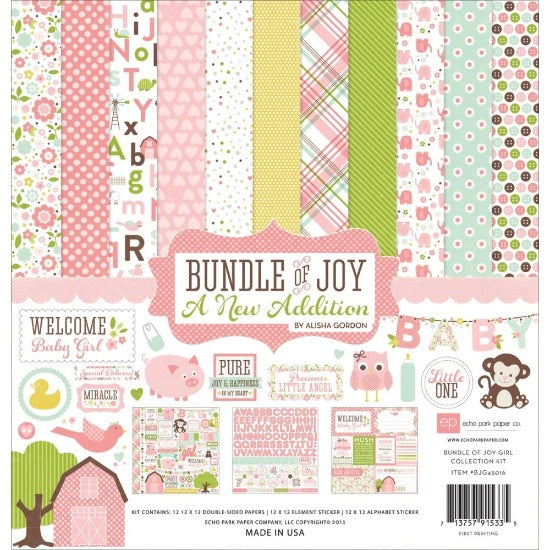 "12"" x 12"" paper pad - Bundle of Joy Girl"