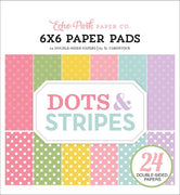 "6"" x 6"" paper pad - Spring Dots & Stripes 2 - Crafty Wizard"
