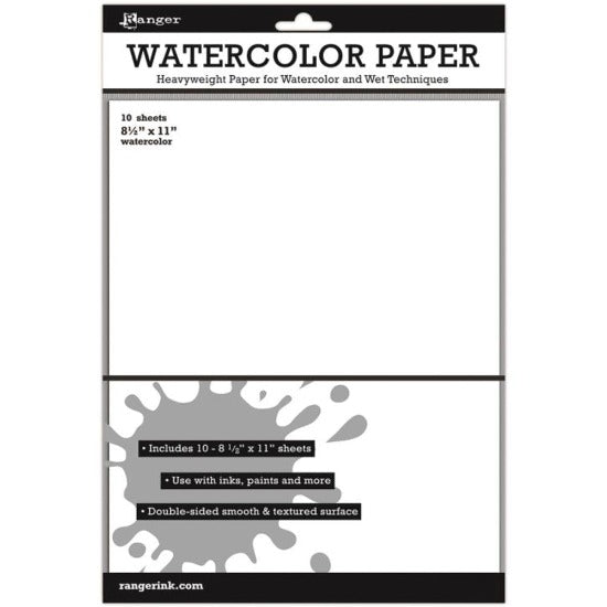 A4 Ranger Inkssentials Watercolor Paper - 10 sheets - Crafty Wizard