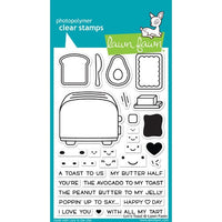 Lawn Fawn - Let's Toast - Clear Stamp Set - Crafty Wizard