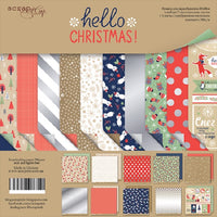 "8"" x 8"" paper pad - Hello Christmas - Crafty Wizard"