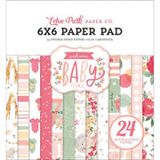 "6"" x 6"" paper pad - Welcome Baby Girl"