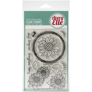 Avery Elle - Sunflowers - Clear Stamp Set - Crafty Wizard