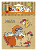 ScrapBerry's Basik's New Adventure - Let's Fly - Clear Stamp Set - Crafty Wizard