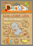 ScrapBerry's Basik & Co - Live Laugh Love- Clear Stamp Set - Crafty Wizard