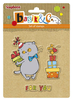 ScrapBerry's Basik's New Adventure - Party 1 - Clear Stamp Set - Crafty Wizard
